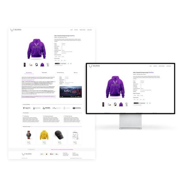 plentymarkets eBay ListingLayout Template FreshTwo